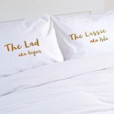 Wedding Gift Personalised Pillowcase Pair