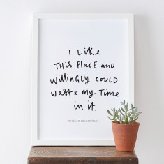 I Like This Place Shakespeare Literary Print