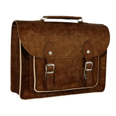 Satchel bag in brown