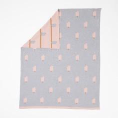 Woouf Blanket - Ice Cream In Grey/Pink