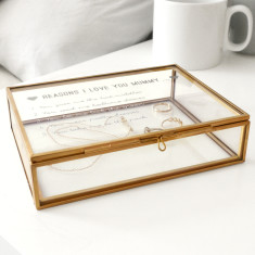 Personalised Rectangular Reasons I Love You Box