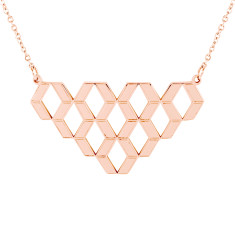 Diamond Hex Geometric Pendant