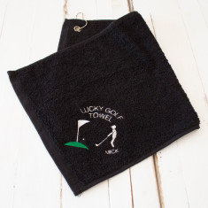 Personalised Lucky Golf Towel