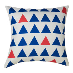 Nautical blue & red cushion cover (set of 2)