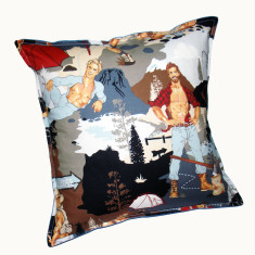 Gone camping cushion cover