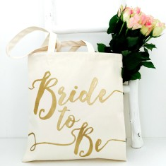 Bride wedding tote