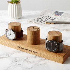 Personalised Solid Oak Watch Stand (3, 4 & 5 watches)