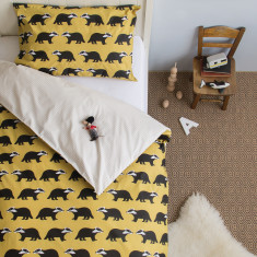 Kissing Badgers Single Duvet Quilt Cover Set