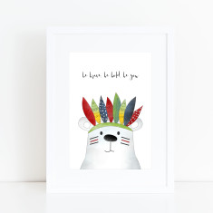 Be brave, be bold print