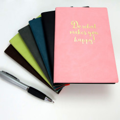 Happy Pu Leather A6 Notebook