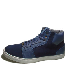 Urban range navy grain leather high top