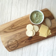Personalised Family wooden cheese board/platter