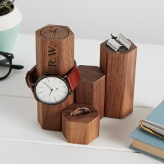 Personalised Gents Watch And Jewellery Stand