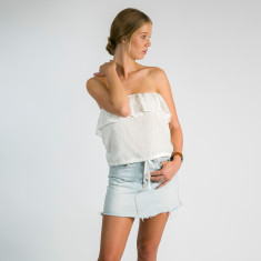 Lily off the shoulder silk chiffon top