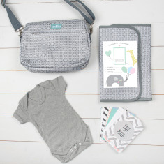 Soft Grey Unisex Baby Gift Set