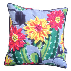 Cactus Flower Outdoor Cushion
