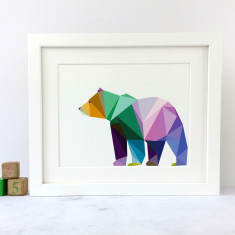 Geometric Bear Art Print
