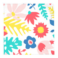 Floral party napkins (2 pack)