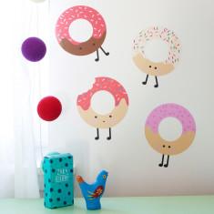 Yummy donut fabric wall stickers