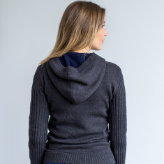 Victoria Modern Pullover Hoodie In Charcoal