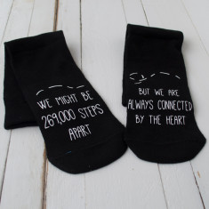 Long Distance Relationship Personalised Socks