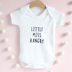 Little miss/mr hangry baby grow
