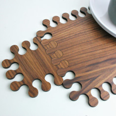 Jigsaw Interlocking Placemat And Coaster Set