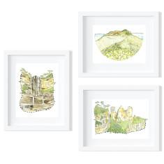 Blue Mountains Trio Print Set - Open Edition Fine Art Prints