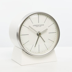 London Clock Company Skarp silent alarm mantel clock