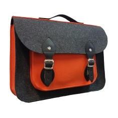 Felt satchel bag