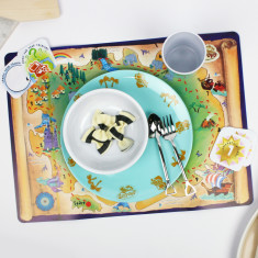 Treasure hunt-themed dinner set: 2 child pack