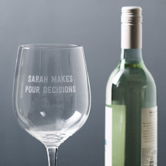 Personalised pour decisions jumbo wine glass