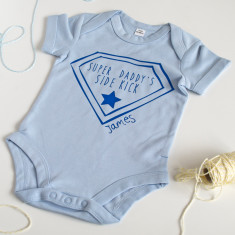 Personalised Super Sidekick Baby Grow