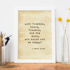 Oscar Wilde Quote Typewriter Print
