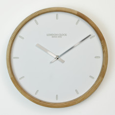 London Clock Klokke Silent Sweep Wall Clock