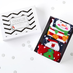 Four Christmas Socks Gift Set