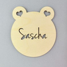 Personalised Bear Nursery Door Sign