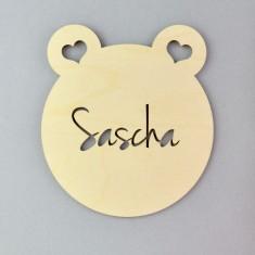 Personalised Bear Nursery Door Sign