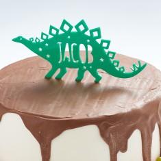 Personalised Stegosaurus Dinosaur Birthday Cake Topper