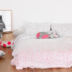 Fluro pink sprinkle sprinkle bed linen