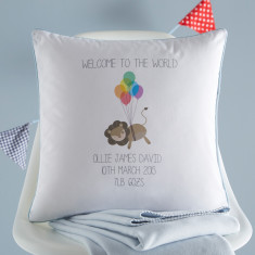 New Baby Personalised Cushion Cover