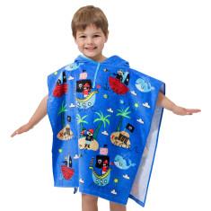 Kids' Pirates Towel Poncho