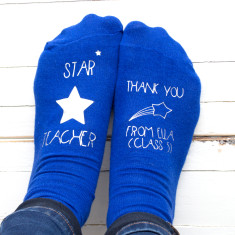 Star Teacher Personalised Socks