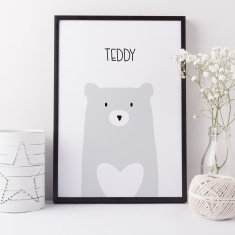 Bear nursery print