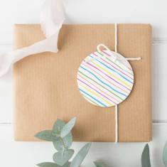 Rainbow stripe gift tags (set of 12)