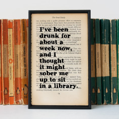 The Great Gatsby booklover's art print