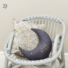 I love you to the moon and back personalised cushion