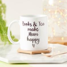 Books And Tea Make Me Happy Mug