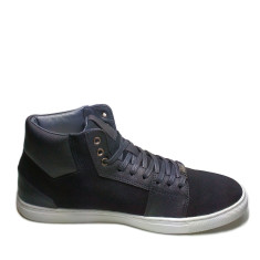 Urban range black grain leather high top