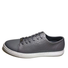 Urban range leather python men's shoes in grey
